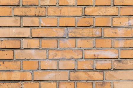 Patroon van de oude gele bakstenen muur in harmonische structuur Stockfoto - 85480404
