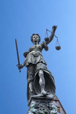lady justice as symbol for law in Frankfurt, Germany