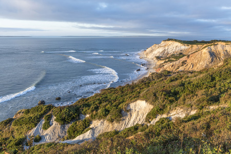 Gay Head cliffs of clay at the westernmost point of Marthas Vineyard in Aquinnah, Massachusetts, USA Stock Photo