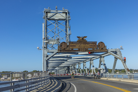 The Memorial Bridge  over the Piscataqua River, in Portsmouth, which connects New Hampshire to Maine Editorial
