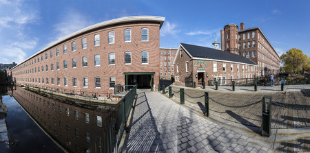 LOWELL, USA - SEP 26, 2017: visit of the industry museum Boott cotton mills in Lowell, USA. It was the first industrial fabrication in the USA in 1835.