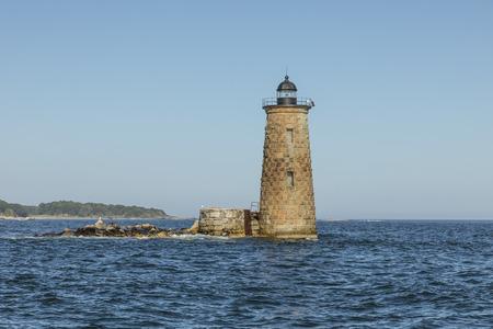 Phare de baleine au large de la côte de Portsmouth, Maine, États-Unis Banque d'images - 86773218