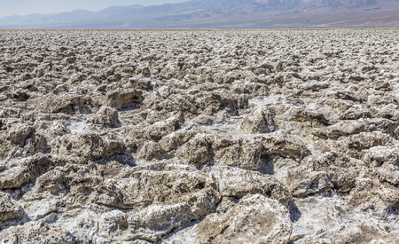 area of salt plates in the middle of death valley, called Devils Golfe Course, Gas is coming from underground