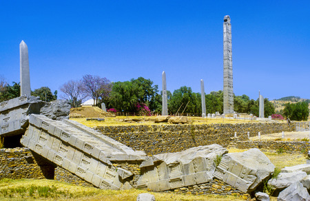 Stele in the northern field at Axum in Ethiopia, Africa