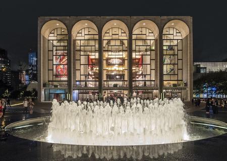 NEW YORK, USA - NOV 4, 2017: The Metropolitan Opera House in New York City at Lincoln Center.