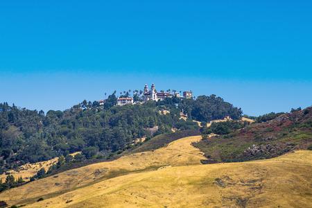 SAN SIMEON, USA - JULY 28, 2008: Randolph Hurst castle, the  Disneyland of art at the hills of San Simeon. Editorial