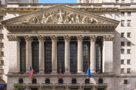 facade of wall street stock exchange in New York