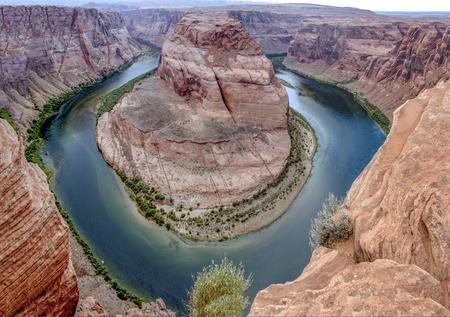 Romantic horseshoe bend in page, Arizona, river Colorado