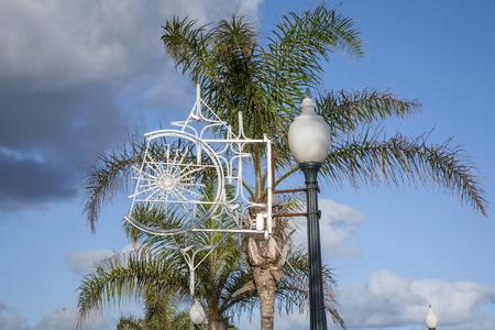 Christmas decoration at the promenade of Arrecife, Lanzarote