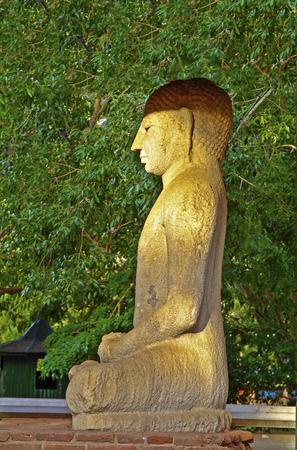 Samadhi Buddah Statue, meditating Buddah, beauty and holiness, Sri Lanka Stock Photo