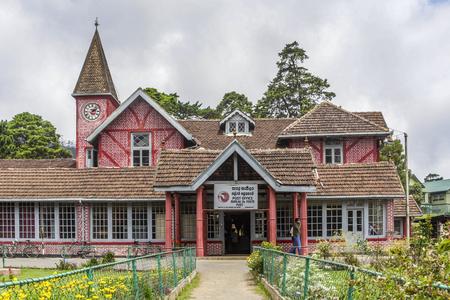 NUWARA ELIYA, SRI LANKA: old victorian Post Office in the hilly town of Nuwara Eliya in Sri Lanka. The Post office was built by british architects. Фото со стока