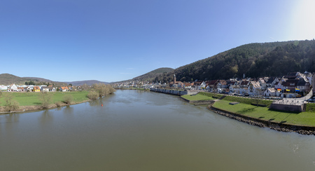 landscape of river main with village of Freuden and Collenberg