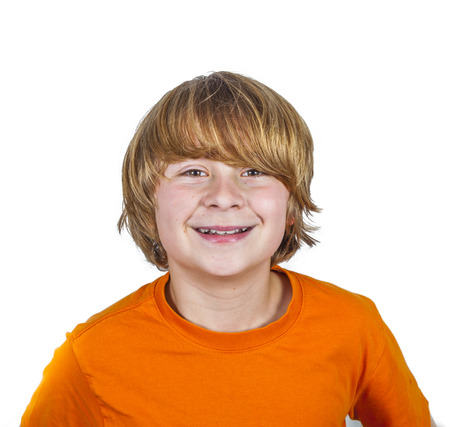 portrait of happy young boy showing positive emotions