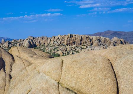 scenic rocks in Joshua Tree National Park  in Hidden valley Stock Photo