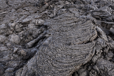 Stones of volcanic flow give a beautiful natural structure