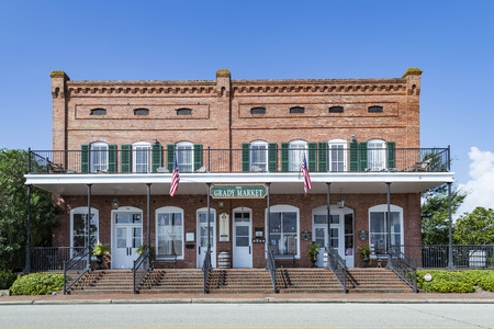 APALACHICOLA, USA - JULY 23, 2013: the old historic Grady market is nowadays a tourist shop for clothing and souvenirs.