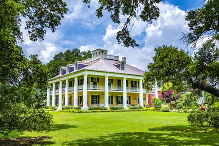 DARROW, USA - JULY 14, 2013: famous Houmas House plantation in Darrow, USA. Irishman John Burnside bought the plantation in 1857 for USD 1 million.