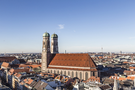 The Church of Our Lady (Frauenkirche) in Munich (Germany, Bavaria). Foto de archivo