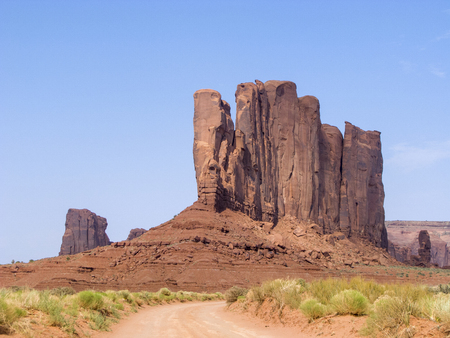 giant rock in  Monument Valley in Arizona, USA