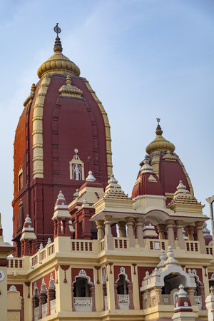 Shri Digambar Jain Lal Mandir Temple in Delhi under blue sky Stock Photo