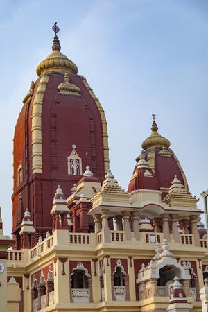 Shri Digambar Jain Lal Mandir Temple in Delhi under blue sky Stok Fotoğraf