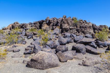 Petroglyph Site, Near Gila Bend, Arizona, USA Stock Photo