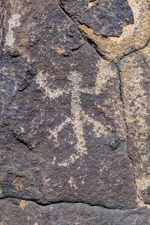Petroglyph Site, Near Gila Bend, Arizona, USA Stock Photo