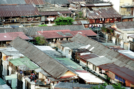 slum at river Chao Phraya