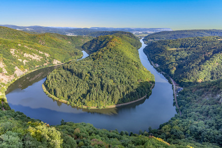 famous river saar loop in Orscholz Stock fotó
