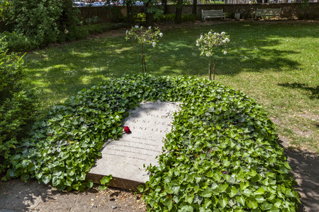 WEIMAR, GERMANY - MAY 27, 2012: Grave of Christiane von Goethe, the wife of Johann Wolfgang von Goethe in Weimar