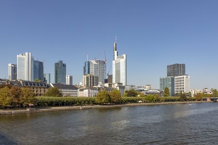 skyline of Frankfurt am Main with river view