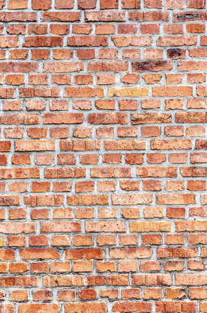 old red brick wall as harmonic background Stock Photo