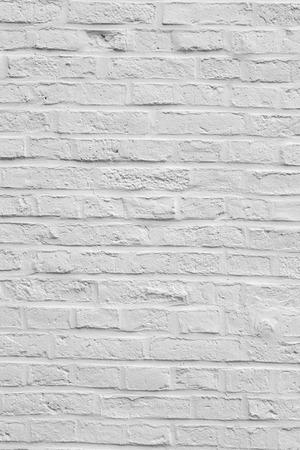 harmonic background of white painted brick wall