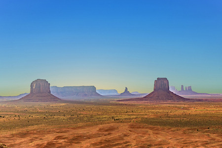 Monument Valley seen from Artists  Point, USA