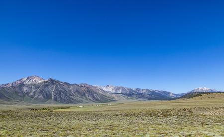 Mountain range, Eastern Sierra Mountains, Mono County, Benton, California, USA