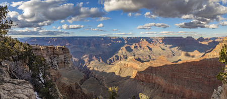 scenic view to Grand canyon from mathers point in sunset