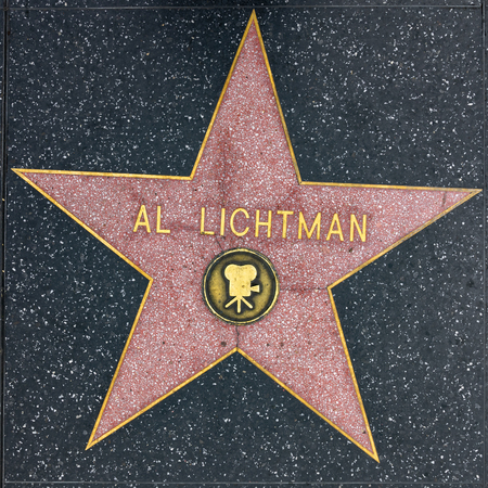 LOS ANGELES, USA - MAR 5, 2019: closeup of Star on the Hollywood Walk of Fame for Al Lichtman.