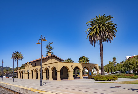 Santa Barbara Train Station was built in 1902 by the Southern Pacific Railroad in the Spanish Mission Revival Style.