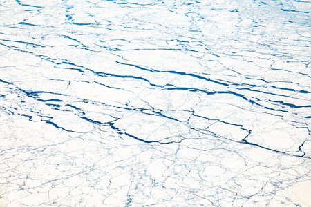 aerial of frozen glacier in Alaska, USA Stockfoto