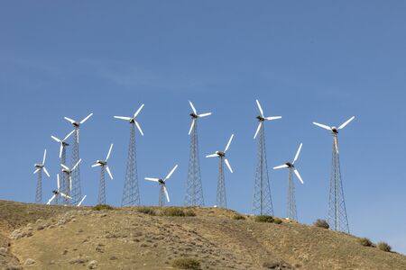 wind energy for producing electricity i California, USA covers a huge amout of energy