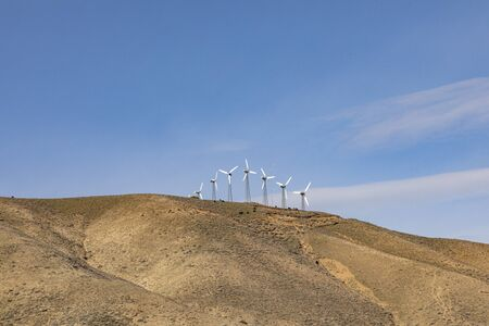 wind energy for producing electricity i California, USA covers a huge amout of energy Stok Fotoğraf
