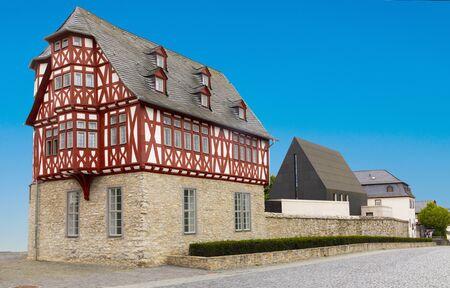 Limburg, Germany - Jul 6, 2019: The (controversially expensive) bishops residence in Limburg, Germany.