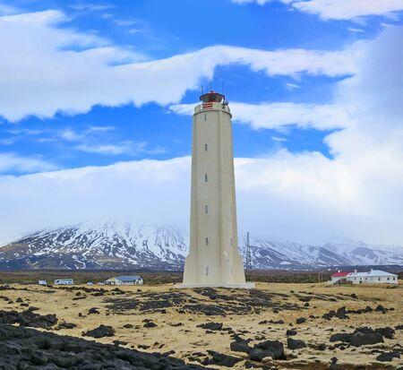 Malarrif white lighthouse at Snaefellsnes island, Iceland