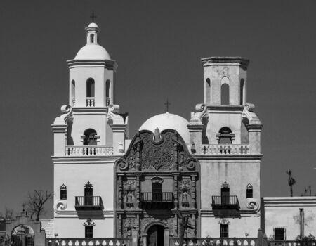 the san xavier del bac mission in tucson arizona Zdjęcie Seryjne