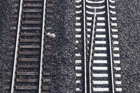 railway tracks  with crossing without train