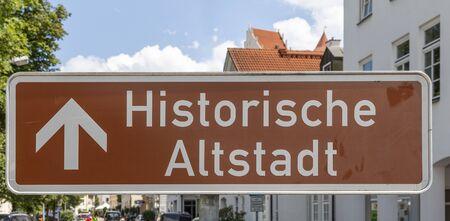 sign historic old town (historische Altstadt) in Fuessen, Germany Zdjęcie Seryjne