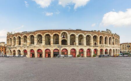 famous old roman arena di Verona in Italy