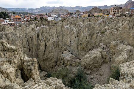 scenic Valle de la Luna near La Paz, Bolivia