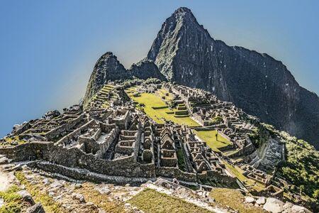 view to famous historic inca village of Maccu Piccu