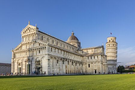 famous piazza del miracoli in Pisa, Tuscany, Italy Imagens